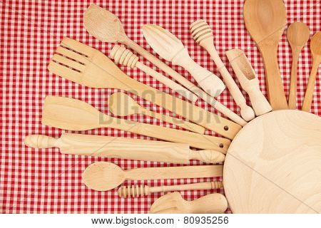Wooden Kitchen Equipments And Utensils