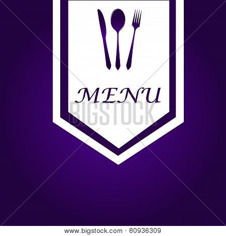 Simple Purple & White Menu Cover