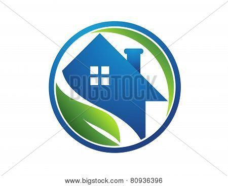circle home real estate logo,global nature house