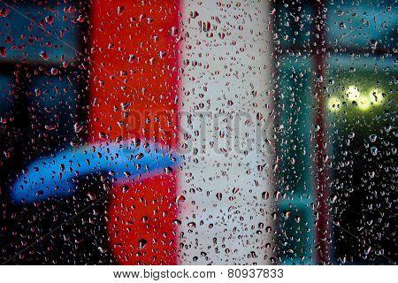 blue umbrella and drops