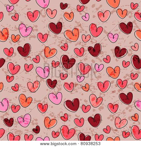 Stylized background made of hearts