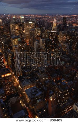 New York Skyline bei Nacht