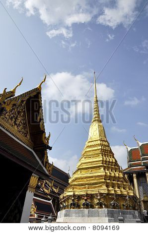 Thailand Gold Pagoda Day Outdoor Sky