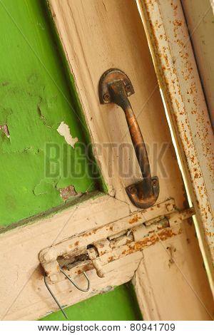 A Steel Of Door Knob Are Locked