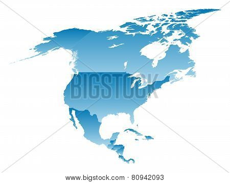 Map North America