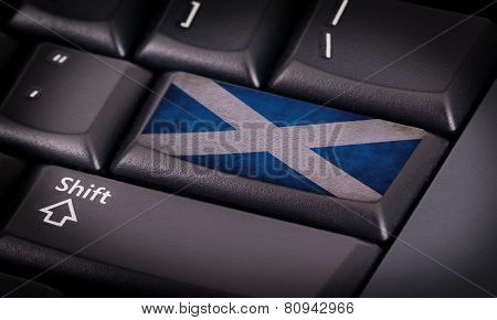 Flag On Keyboard