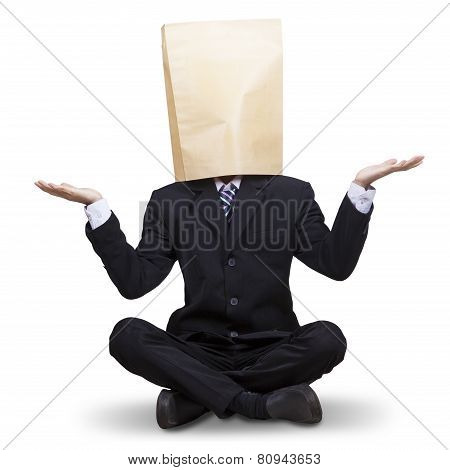 Confused Businessman With Blindfold