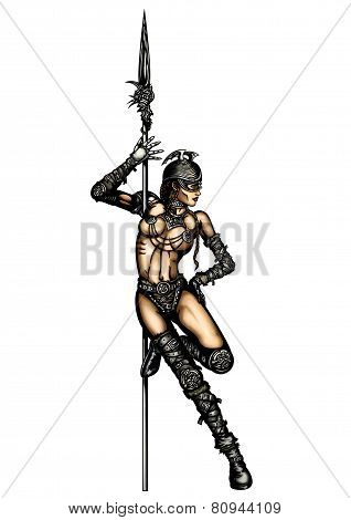 Warrior Woman Striptease