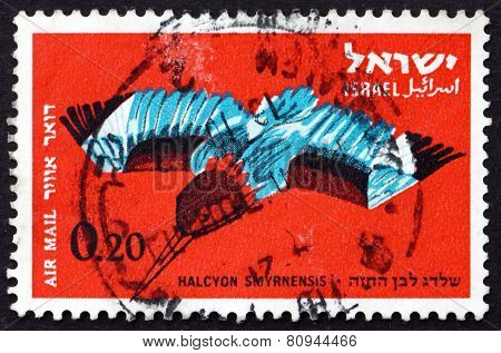 Postage Stamp Israel 1963 White-breasted Kingfisher, Bird