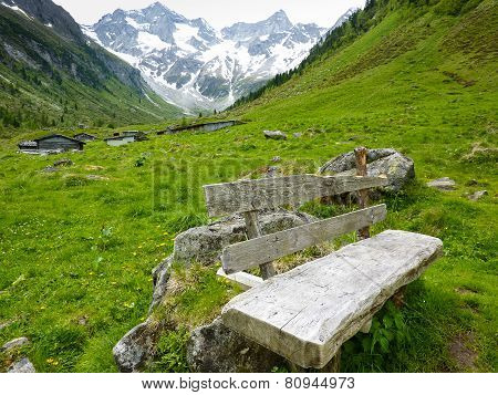 Resting place in the high mountain
