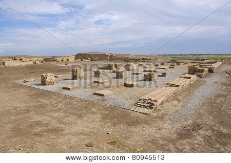 Ruins of Otrar (Utrar or Farab), Central Asian ghost town, South Kazakhstan Province, Kazakhstan