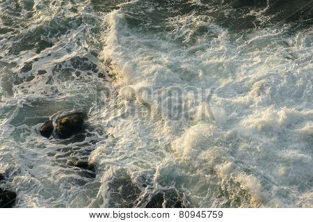 rocks and waves - 1