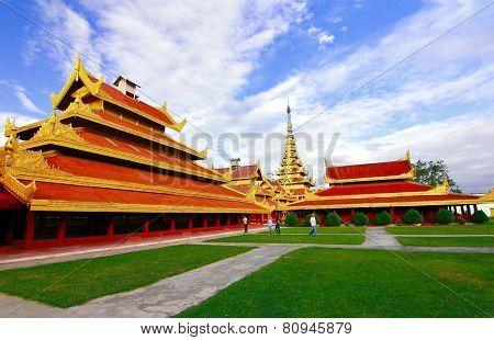 At Mandalay Palace, Mandalay Myanmar