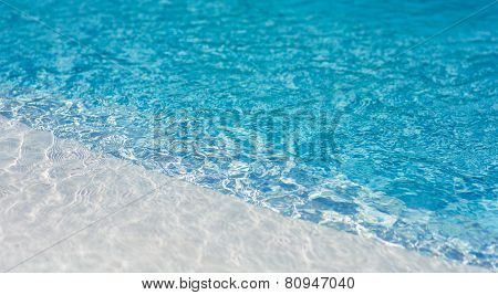 Swimming Pool Close Up. Poolside