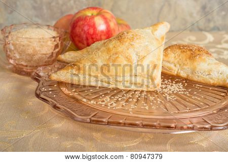 Apple Turnovers On An Antique Plate