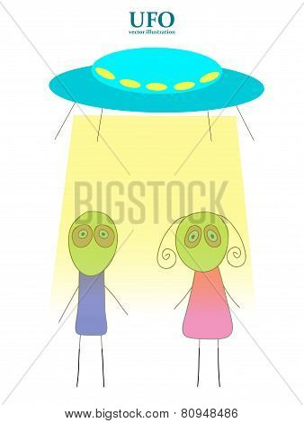 Ufo Vector Illustration