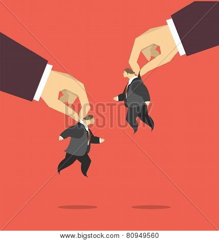 Puppets In The Business Concept