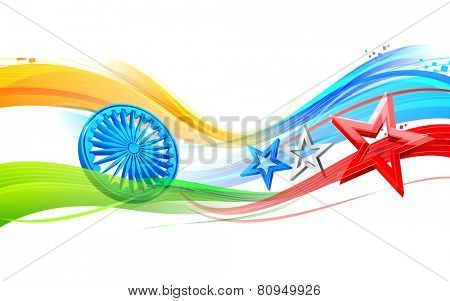 illustration of India-America relationship