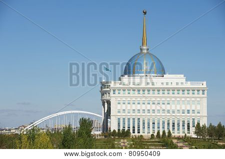Exterior of the President palace in Astana, Kazakhstan.