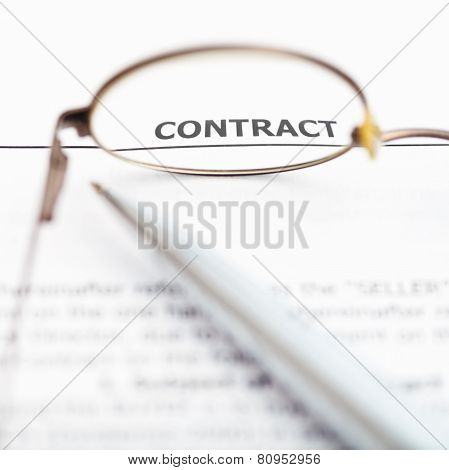 Sales Contract Through Eyeglasses