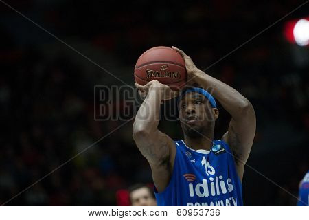 VALENCIA, SPAIN - JANUARY 21: Mohammed during Eurocup match between Valencia Basket Club and CSU Asesoft at Fonteta Stadium on January 21, 2015 in Valencia, Spain