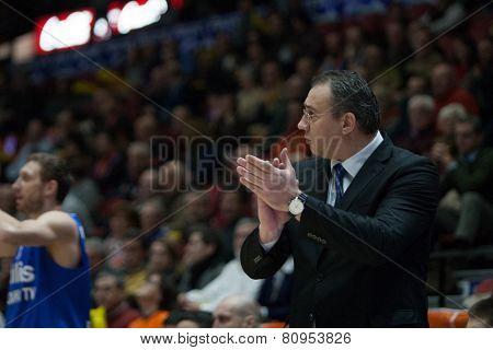 VALENCIA, SPAIN - JANUARY 21: Vladimir Arnautovic during Eurocup match between Valencia Basket Club and CSU Asesoft at Fonteta Stadium on January 21, 2015 in Valencia, Spain