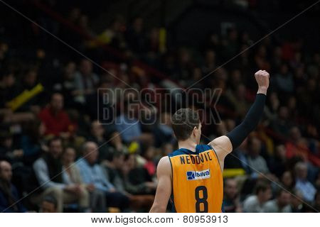 VALENCIA, SPAIN - JANUARY 21: Nedovic during Eurocup match between Valencia Basket Club and CSU Asesoft at Fonteta Stadium on January 21, 2015 in Valencia, Spain