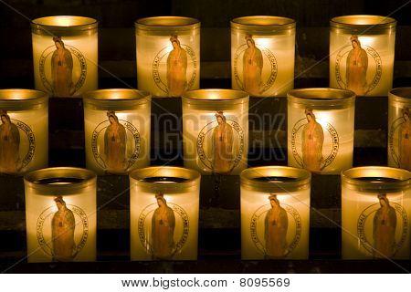 Church candles in Notre Dame de Paris