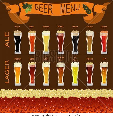 Beer menu set, creating your own infographics