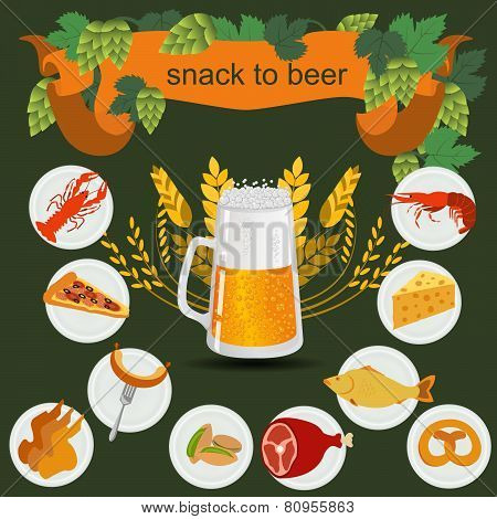 Beer snack  infographics, set elements, for creating your own infographics