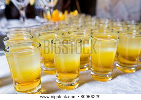 Catering - Alcohol Cocktails Shots Closeup