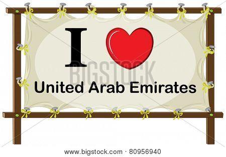 Illustration of I love United Arab Emirates