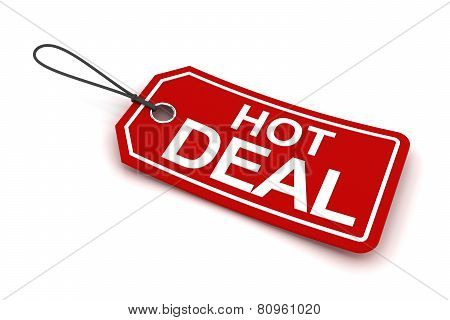 Hot deal tag, 3d render
