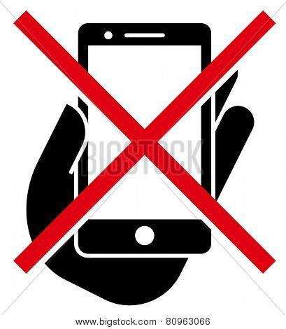 No mobile phones icon