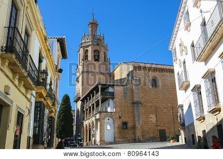 Church Santa Maria La Mayor In Ronda, Malaga Province, Andalusia, Spain