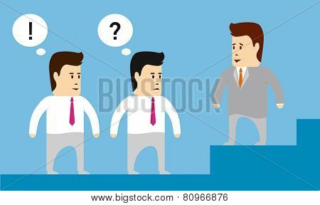 Boss gives the task to his subordinates