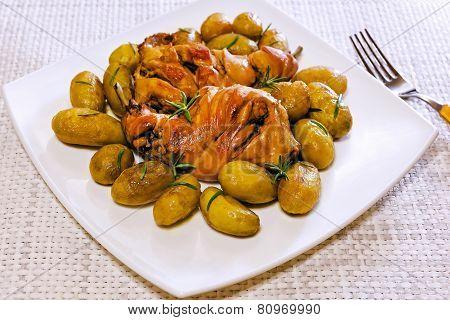 Rabbit With Potatoes