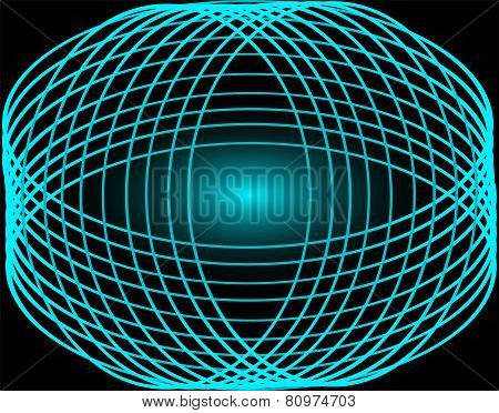 Abstract background with blue line circles