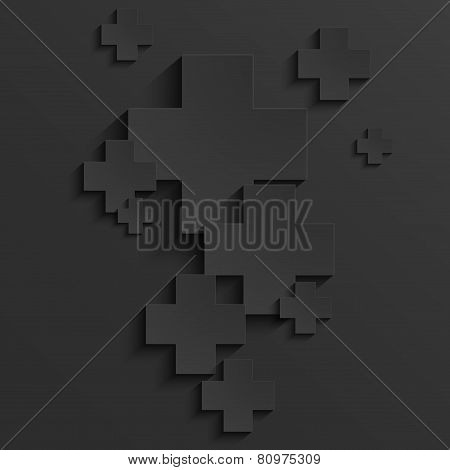 Vector modern pus or cross background template
