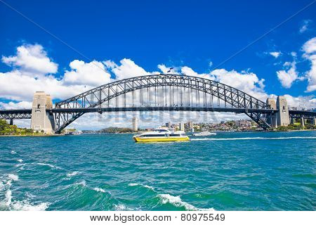 Harbour bridge-Famous landmarks in Sydney, Australia.