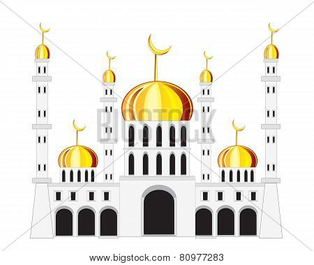 Mosque on white background