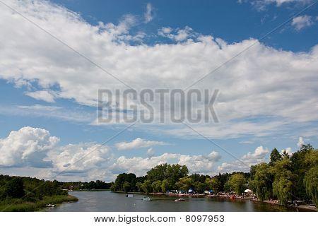 Netta river in Augustow, Poland