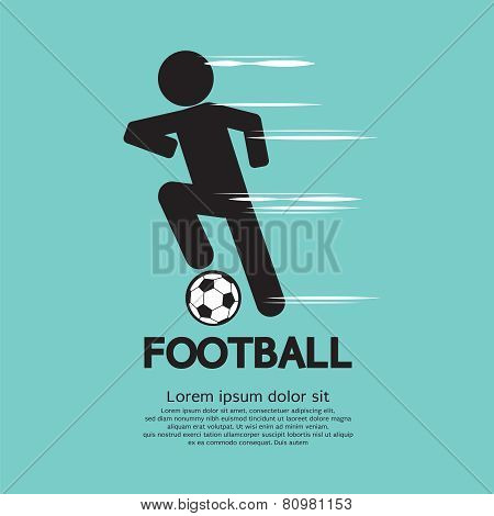 Football Player Vector Illustration.