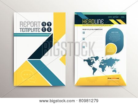 Abstract Design Vector Template Layout For Magazine Brochure Flyer Booklet Cover Annual Repo Abstract vector template layout for magazine brochure flyer booklet cover annual report in A4 size