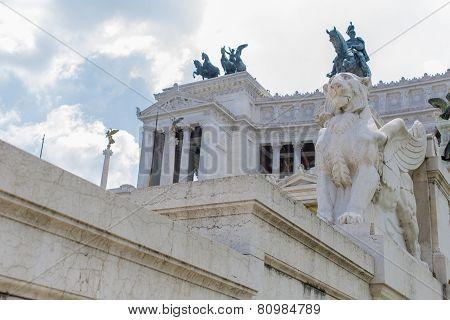Vittoriano In Rome, Italy