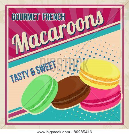 Macaroons Retro Poster