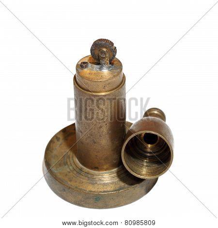 Copper Vintage Lighter Over White