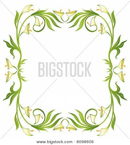 grunge floral abstract banner