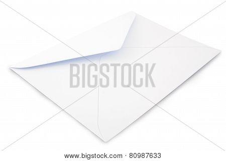 White letter envelope on a white ackground