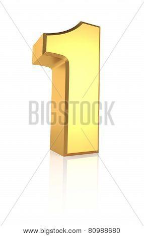 3D Number 1